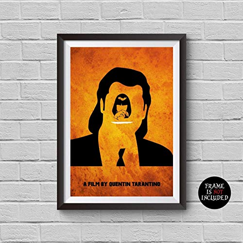 Pulp Fiction Minimalist Poster Quentin Tarantino Alternative Classic Movie Print Mia Wallace Pop Culture and Modern Home Decor Cinema Poster Artwork Wall Art Wall Hanging Cool -