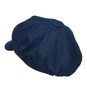 Big Size Cotton Newsboy Hat – Denim (for Big Head)
