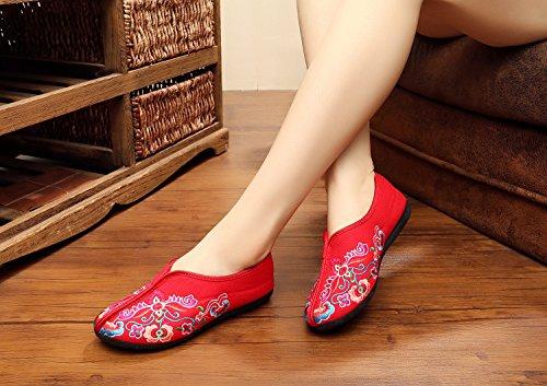 Multicolore Xichengshidai Red Pour Femme Mocassins zzHwqSc4