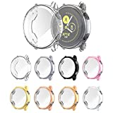 Scractch-Resist All-Around TPU Protective Case Bumper Frame, Full Cover Screen Protector Case Cover Shell for Samsung Galaxy Watch Active 40mm Smartwatch (8 Pack, 40mm)