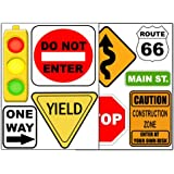 Create-A-Mural : Road Signs Wall Sticker Decal Street