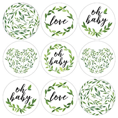 Greenery Baby Shower Favor Labels | 198 Stickers