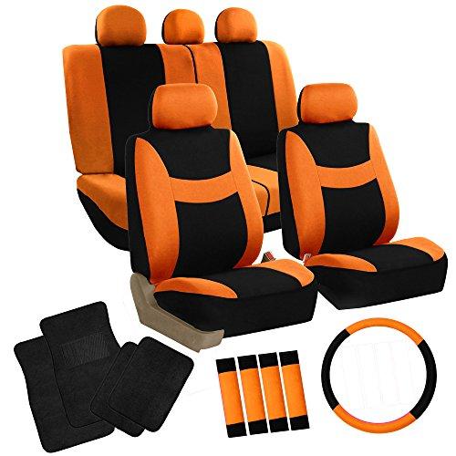 car mats black and orange - 3