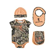 Browning Baby Set, Camo, Mossy Oak Country Hi-Vis Orange Camo, 3 mo, Pack of 1