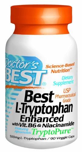 Best Best L-tryptophane améliorées Doté TryptoPure capsules végétales de médecins, 90-Count