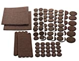 Chair Pads for Hardwood Floors Floor Effects Felt Pads, Heavy Duty Adhesive Furniture Pads - Floor Protector for Tiled, Laminate, Wood Flooring - 123 Pieces Floor Protectors, Felt Chair Pads, Hardwood Floor Protector of Various Sizes Included