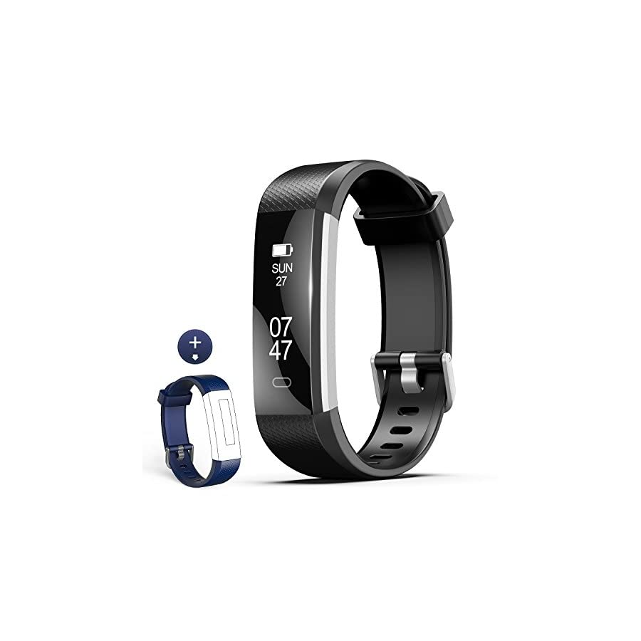 Fitness Tracker, Wesoo K1 Fitness Watch: Activity Tracker with Sleep Monitor, Smart Bracelet Pedometer Wristband with Replacement Band for Kids, Women and Men