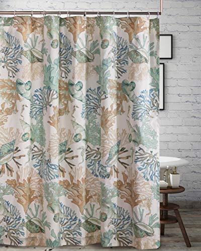 - Barefoot Bungalow Atlantis Shower Curtain 72x72-inch Jade
