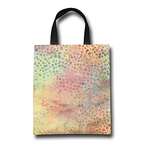 k Reusable Shopping Grocery Bag Lightweight Polyester Foldable Beach Travel Tote (Confetti Batik)