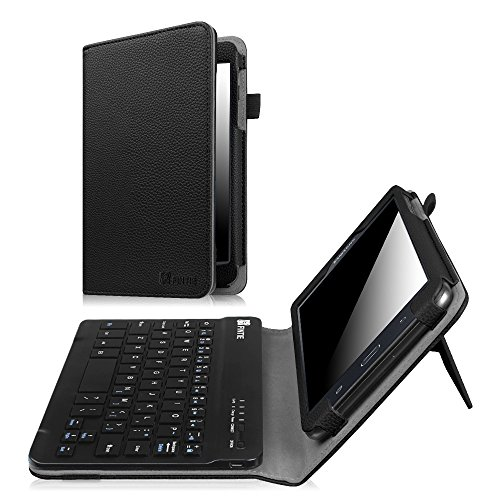 Fintie Samsung Galaxy Tab A 7.0 Keyboard Case, Slim Fit Folio PU Leather Cover with Detachable Magnetical Bluetooth Keyboard for Samsung Galaxy Tab A 7-inch Tablet (SM-T280/T285), Black