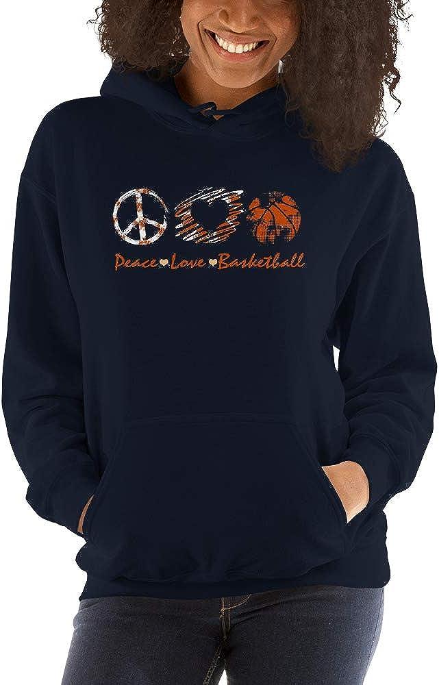 Peace Love Basketball Lovers Cute Hand Sign Unisex Hoodie