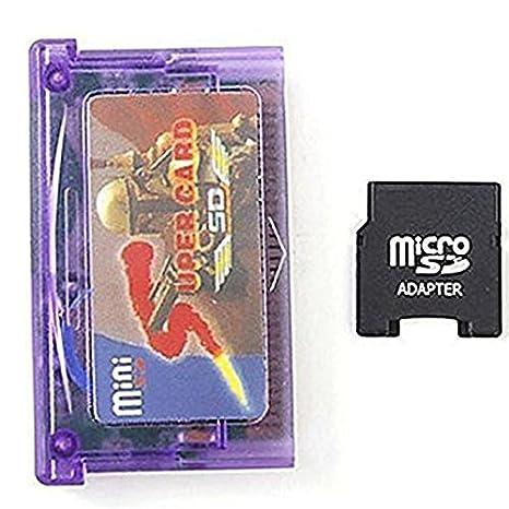 Rabusion - Adaptador de Tarjeta SD y Mini Tarjeta de Memoria para GBA SP GBM IDs NDS NDSL (con Tarjetero)