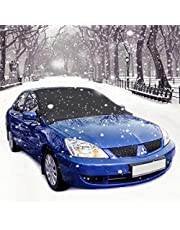 Windshield Snow Cover, AODOOR Frost Screen Cover Magnetic Universal Wind Screen Frost and Ice Protector,Ice Sun Frost and Wind Proof in All Weather 210 x 120 cm (Black + Silver)