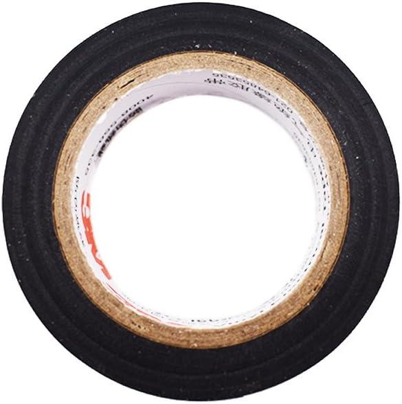 Ogquaton Ruban adh/ésif Ruban isolant Bande de protection en fil de PVC Enroulement de ruban adh/ésif Ruban imperm/éable r/ésistant aux temp/ératures /élev/ées Noir 1 Pi/èce Cr/éatif et utile