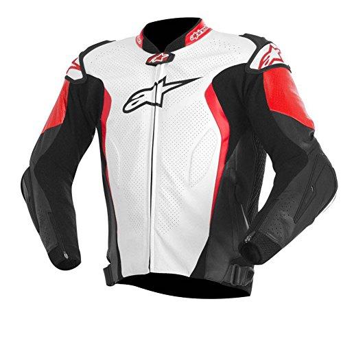 Alpinestars GP Tech Leather Jacket (WHITE/BLACK/RED)