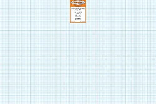 Clearprint 1000H Design Vellum Sheets with Printed Fade-Out 8x8 Grid, 16 lb, 100% Cotton, 24x36 Inches, 100 Sheets/Pack, Translucent White (10202528) by Clearprint