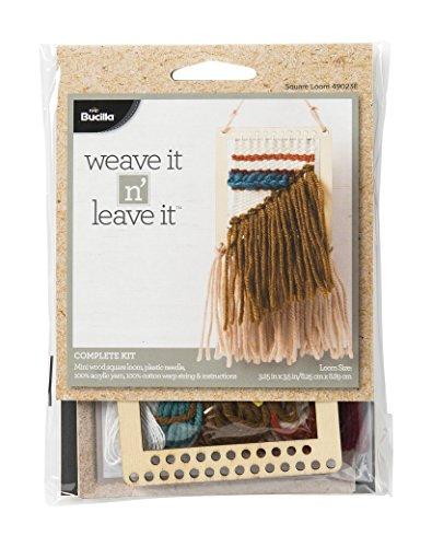 Mini Loom (Bucilla Square Mini Loom Weave It N' Leave It Kit)