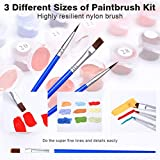 """COLORWORK DIY Paint by Numbers, Canvas Oil Painting Kit for Kids & Adults, 16"""" W x 20"""" L Drawing Paintwork with Paintbrushes, Acrylic Pigment-A Window Flower"""