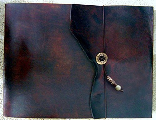 9.5'' x 12'' Large Refillable Leather Sketchbook, Natural Edge, Distressed Leather sketchbook, Refillable Journal, Large leather journal, Refillable sketchbook cover, guest book, photo album by ZenfishLeather