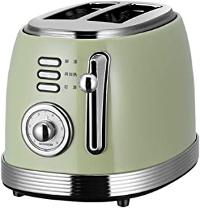 Toaster 2 Slice, Retro Small Toaster,Cancel, Defrost Function, Extra Wide Slot Compact Stainless Steel Toasters for Bread Waffles, Ideal Gift for Family & Friends