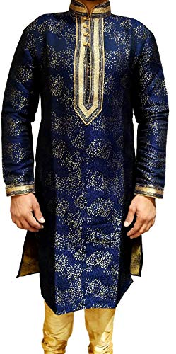 Tathastu Mens Kurta Pyjama Set 1951 Blue - Kurta Mens