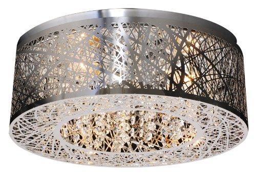 PLC Lighting 77747 PC Nest Collection 3 Light Ceiling Light, Polished Chrome (Plc 3 Light Pendant)