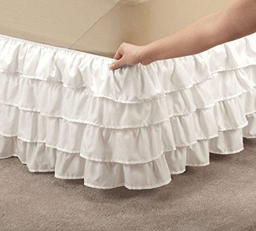 Miles Kimball Layered Bed Ruffle by OakRidgeTM