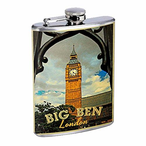 最も完璧な Perfection London Inスタイルステンレススチールフラスコ8オンスビンテージポスターd-221 B016B7JVZA Ben Big Ben London B016B7JVZA, 工具ランド:18fc2183 --- domaska.lt