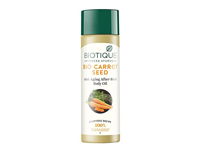 Biotique Bio Carrot Seed Anti-Aging After-Bath Body Oil, 120ml