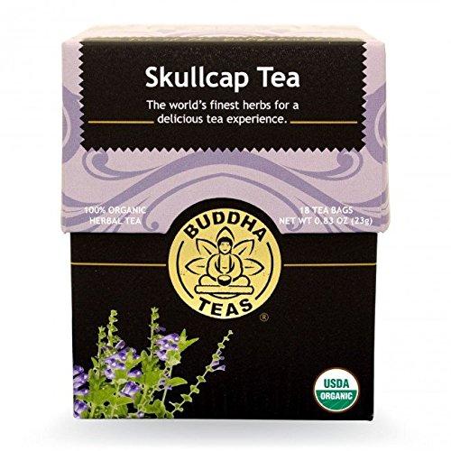 Skull Cap Tea - Organic Herbs - 18 Bleach Free Tea Bags