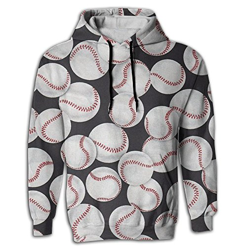 Hardball Pullover Jacket (Baseballs Men's Yoga Hoodie Sweat Shirt Pocket In Front Edgy Hipster Tops Shirt Coat For Pullover Hoodie With Cap)