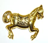 Antique Goldplated Horse Pin