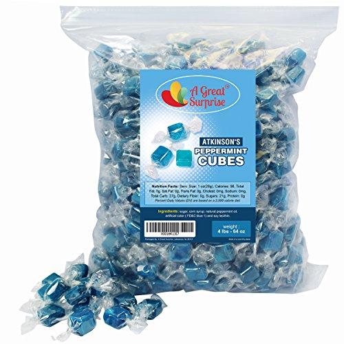 Mint Candy - Blue Hard Candy - Peppermint Candy , 4 LB Bulk Candy