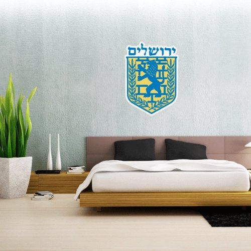 Emblem Of JerUSAlem Israel Wall Decal Vinyl Sticker 25