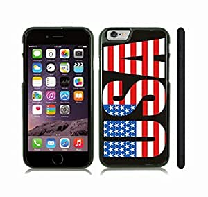 Case Cover For HTC One M9 with USA Flag Text Graphic Design Snap-on Cover, Hard Carrying Case (Black)