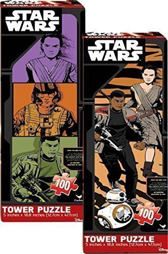 Star Wars: Episode 7 (The Force Awakens) Tower Puzzle 100pc, 2 Piece Bundle Set