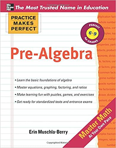 Practice Makes Perfect Pre-Algebra 1st Edition