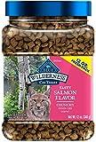 Blue Buffalo Wilderness Grain Free Crunchy Cat Treats, Salmon 12-oz Tub