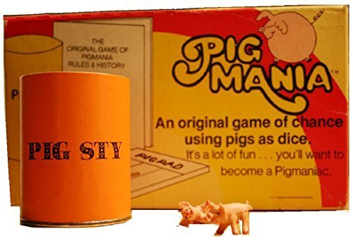 Pig Mania: An original game of chance using pigs as dice (1977) by David Moffat Enterprises
