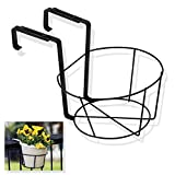 Generic O-8-O-2370-O Flower Pot ack Adjustable Holder Panacea Over Flower Holder - Black eck Adj The Deck HX-US5-16Mar28-1067