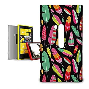 Phone Case For Nokia Lumia 920 - Tropical Feathers Tribal Hardshell Cover wangjiang maoyi