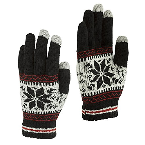 Touch Screen Gloves Unisex Wool Warm gloves ( Black) - 9