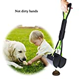 Beinhome Upgraded Puppy Pooper Scoopers Foldable 23 inches Long One-Hand Use Dog Poop Scooper with Waste Bags Removal Pet Jaw Scoop Design