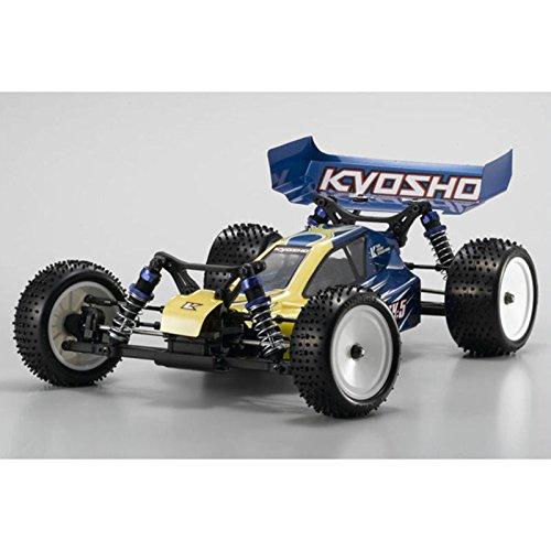 京商 1/10 レーザーZX-5 readyset イエローブルーR/C電動4WDレーシングバギー