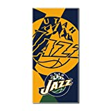 Jazz OFFICIAL National Basketball League, Puzzle 34 x 72 Over-sized Beach Towel - by The Northwest Company
