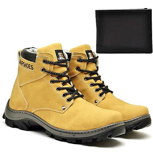 Bota Masculina SnapShoes Amarelo Com Carteira