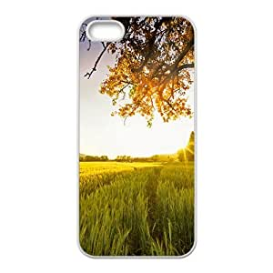 Sunset wild field scenery Phone Case for iPhone 5S(TPU)