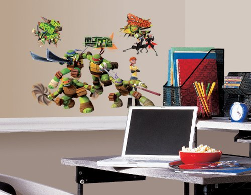 Roommates Rmk2246Scs  Teenage Mutant Ninja Turtles Peel And Stick Wall (Ninja Turtles Room)