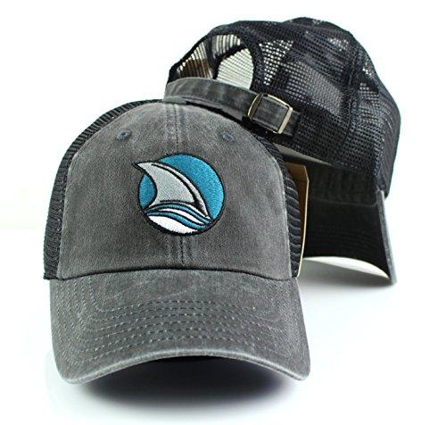 San Jose Sharks NHL American Needle Raglan Bones Alternate Logo Mesh Back Slouch Twill (Alternate Logo Cap)