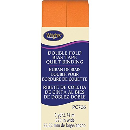 Wrights Double Fold Quilt Binding, 7/8 by 3-Yard, Orange (Wrights Double Fold Quilt Binding)